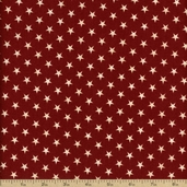Christmas Classics Stars Cotton Fabric - Red
