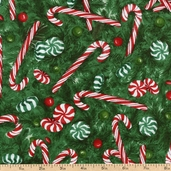 Christmas Collection Candy Cotton Fabric - Holly ANH-10316-240 HOLLY
