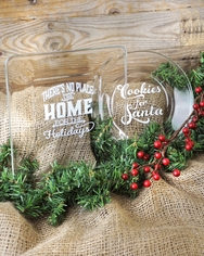 Christmas Glass Plates