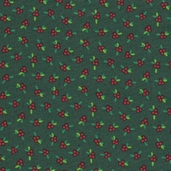 Christmas in Baltimore Cotton Fabric - Green