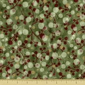 Christmas in Kyoto Cotton Fabric - Abstract - Holiday Green