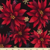 Christmas in Kyoto Cotton Fabric - Ornamental - Holiday
