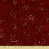 Christmas in Kyoto Cotton Fabric - Script Texture - Crimson