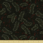 Christmas Spirit Cotton Fabric - Boughs - Forest Green