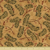 Christmas Spirit Cotton Fabric - Boughs - Grain