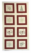 Christmas Spirit Cotton Fabric Craft Panel
