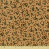 Christmas Spirit Cotton Fabric - Pine Tree Toss - Grain