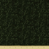 Christmas Spirit Cotton Fabric - Twigs - Forest Green