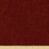 Christmas Spirit Cotton Fabric - Twigs - Garnet