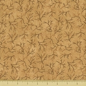 Christmas Spirit Cotton Fabric - Twigs - Grain