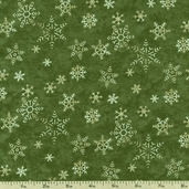 Christmas Spirit Snowflakes Cotton Fabric - Green 6475-18