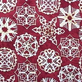 Christmas Traditions Cotton Fabrics - Snowflake Wine