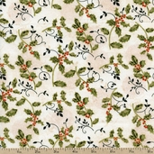 Christmas Traditions Holly Cotton Fabric - Multi 120-4951