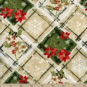 Christmas Traditions Plaid Cotton Fabric - Multi 120-4971