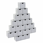 Christmas Tree Advent Calendar - White