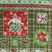 Christmas Wishes Cotton Fabrics - Glitter Panel - CLEARANCE