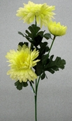 Chrysanthemum Spray -23in - Pkg of 12 - Yellow