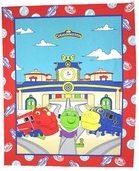 Chuggington Cotton Fabric - Friends Panel