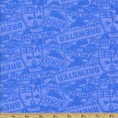 Chuggington Cotton Fabric - Teal
