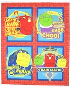 Chuggington Cotton Fabric - Traintastic Panel