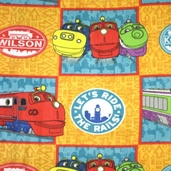 Chuggington Fleece Fabric - Patches