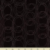 Circles Bali Batik Cotton Fabric - Raven H2306-494
