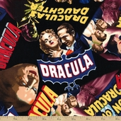 Classic Horror Films Eerie Cotton Fabric
