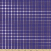 Classic Threads Cotton Fabric - Small Plaid - Grape