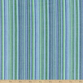 Classic Threads Yarn Dyed Cotton Fabric - Small Stripes - Lagoon