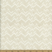 Classical Elements Abstract Chevron Cotton Fabric - Ecru