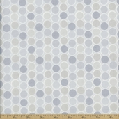 Classical Elements Dot Cotton Fabric - Light Silver