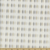Classical Elements Eyelet Cotton Fabric - Light Silver