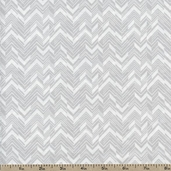 Classical Elements Split Chevron Cotton Fabric - Grey