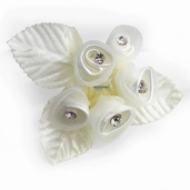 Classical Silk Decorative Flower 6 Pack Bundle - Ivory