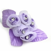 Classical Silk Decorative Flower 6 Pack Bundle - Lavender