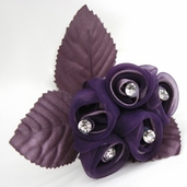 Classical Silk Decorative Flower 6 Pack Bundle - Mauve