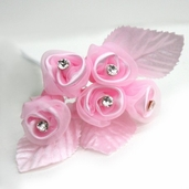 Classical Silk Decorative Flower 6 Pack Bundle - Pink