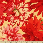 Classics Collection Dahlia Cotton Fabric - Red