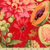 Classics Collection Fruit and Floral Cotton Fabric - Tomato