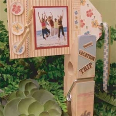 Clothespin Picture Holder