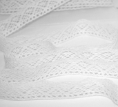 Cluny Lace Trim - White - Clearance