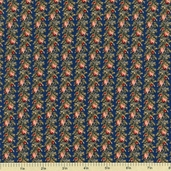 Cocheco Mills Collection III Floral Cotton Fabric - Blue