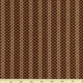 Cocheco Mills Collection III Scale Stripe Cotton Fabric - Brown