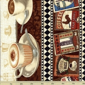 Coffee Break Repeating Stripe Q-1680-74017-123S Cotton Fabric
