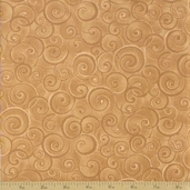 Coffee Cat Cafe Cotton Fabric - Beige Swirls