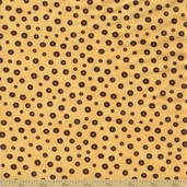Coffee Cat Cafe Cotton Fabric - Coffee Bean Yellow