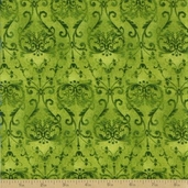 Coffee Cat Cafe Cotton Fabric - Foulard Green
