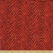 Coffee Cat Cafe Cotton Fabric - Rust Zebra