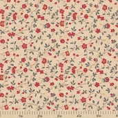 Collections Friendship Floral Vines Cotton Fabric - Cream