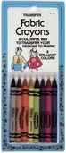 Collins Fabric Crayons Assorted Colors